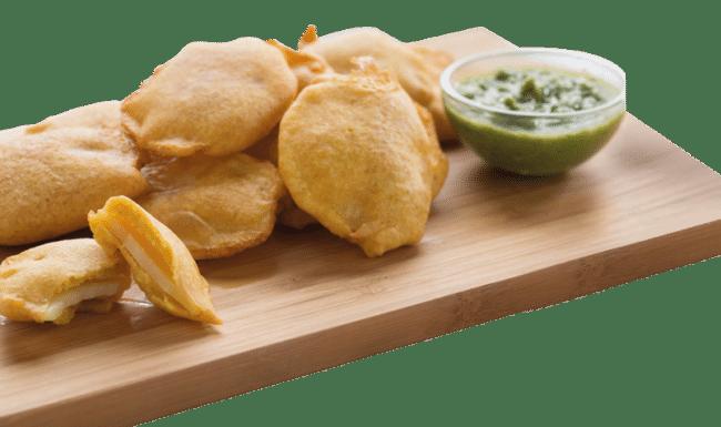 entrée friture beignet delices de linde restaurant indien mulhouse